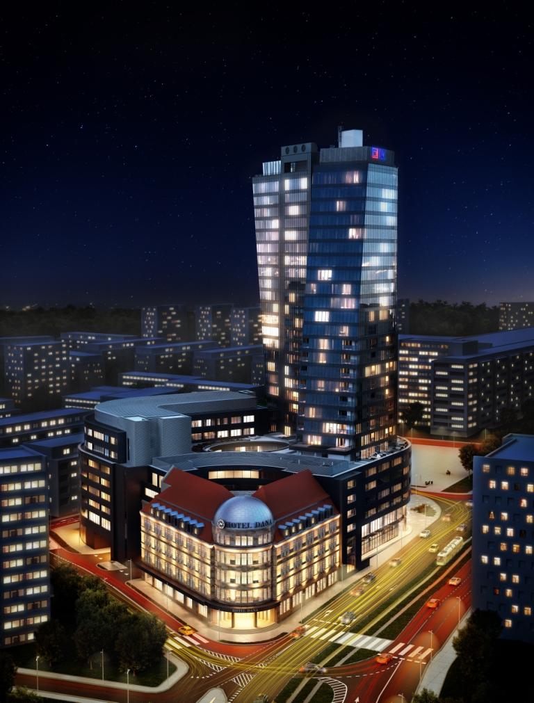 1-Hanza Tower - wizualizacja
